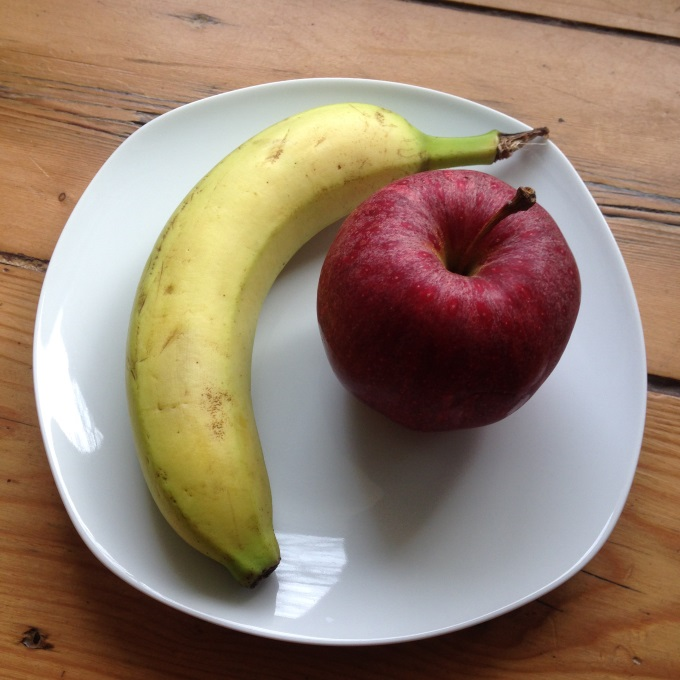 Apfel-Bananen-Brei-zutaten
