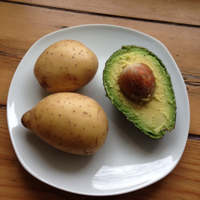 Avocado-Kartoffel-Brei-zutaten