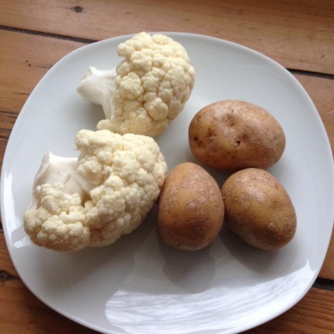 Blumenkohl-Kartoffel-Brei-zutaten