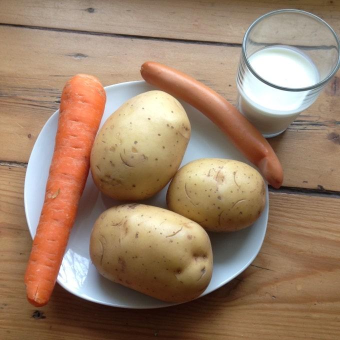 Kartoffelsuppe-zutaten