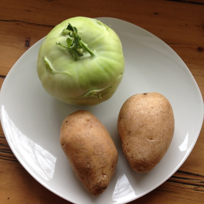 Kohlrabi-Kartoffel-Brei-zutaten