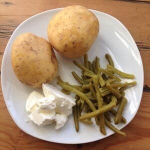 Schmorbohnen mit Kartoffeln