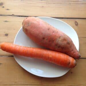 Süßkartoffel-Möhren-Brei