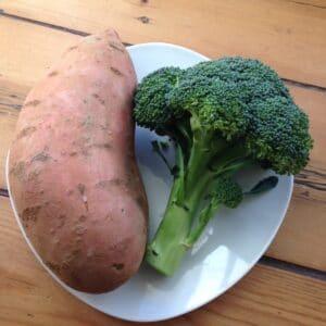Brokkoli-Süßkartoffel-Brei