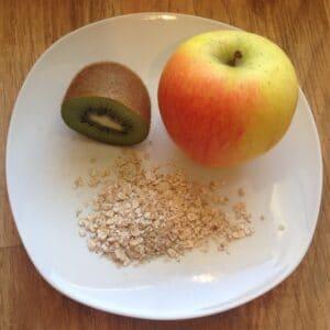 Apfel-Kiwi-Haferflocken