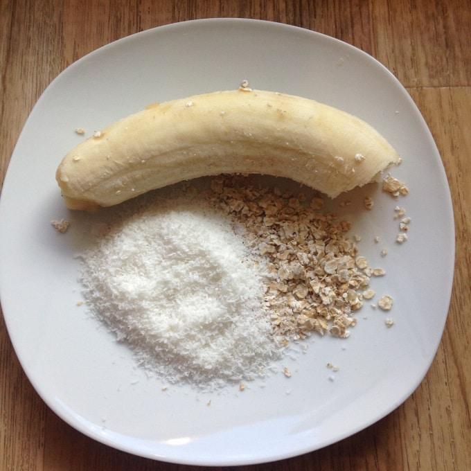 Bildergebnis für Bananen-Kokos-Cookies mit Haferflocken