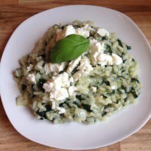 Spinat-Risotto mit Feta