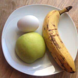 Bananen-Apfel-Pancakes