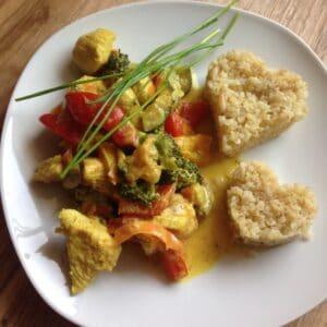 Gemüse-Hähnchen-Pfanne *orientalisch*