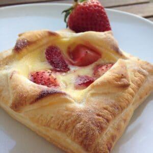 Blätterteig-Pudding-Teilchen