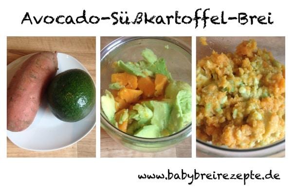 Süßkartoffel mit Avocado