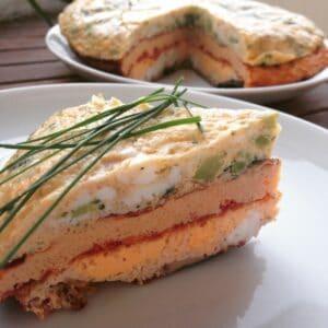 Dreistöckiges Omelett