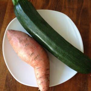 Süßkartoffel-Zucchini-Brei