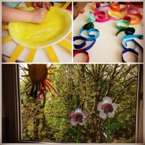 …basteln wir Regenbogen-Sonnen und Blumen <3