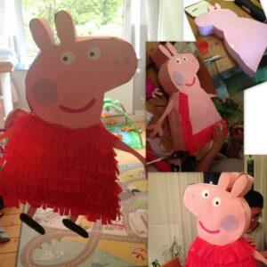 …basteln wir eine Peppa Pig-Piñata