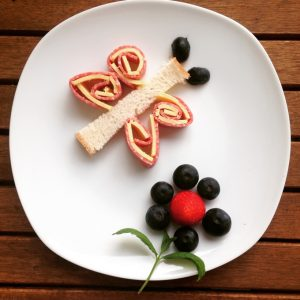 Salami-Käse-Schmetterling