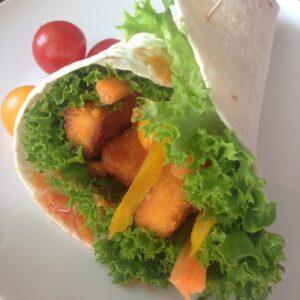 Wraps mit vegetarischen Nuggets