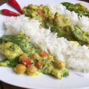 Gemüse-Curry mit Reis