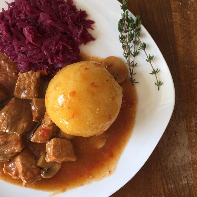 Gulasch Kartoffelklöße 3