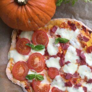 Pizza mit Kürbisboden