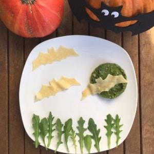 Pasta mit Pesto und Rucola