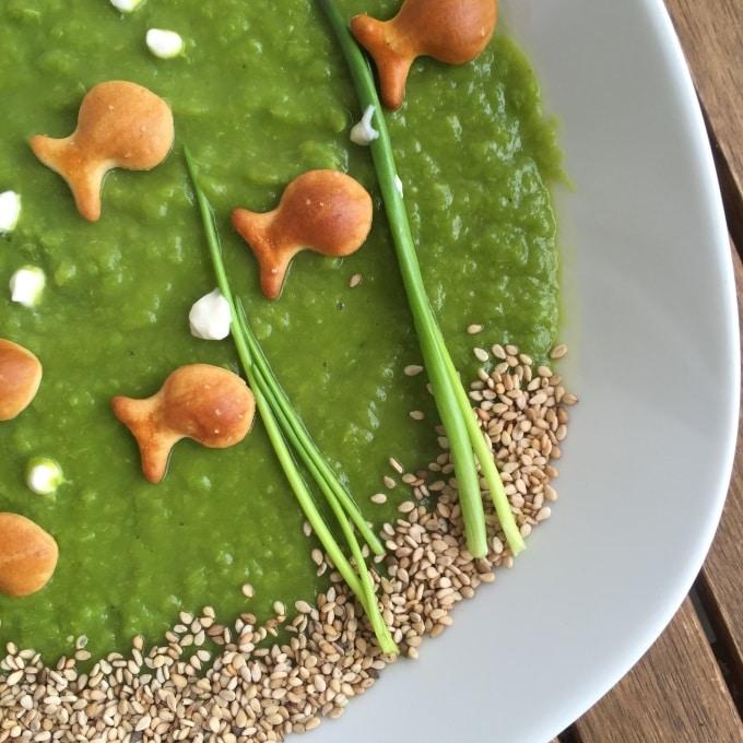 Erbsensuppe vegetarisch mit Joghurt (1)