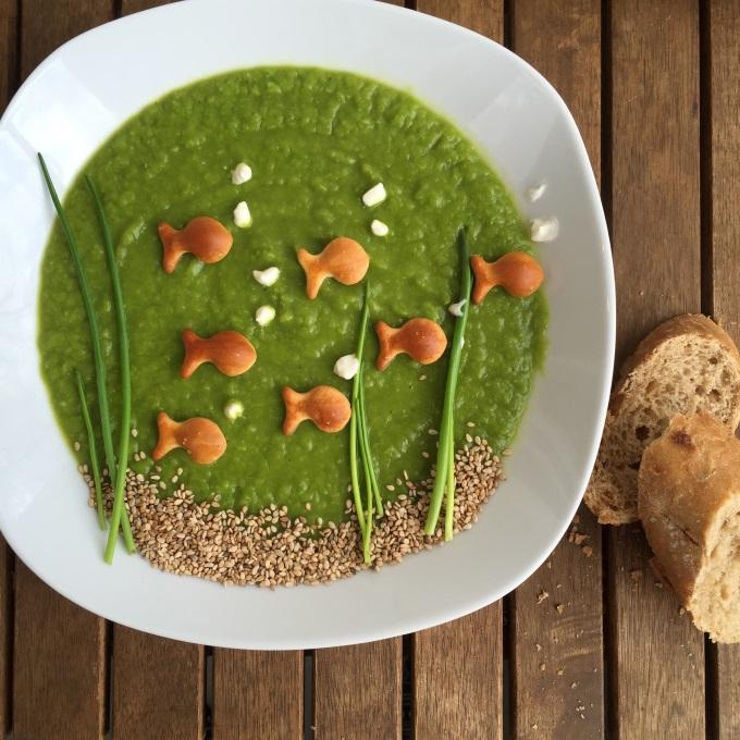 Erbsensuppe vegetarisch mit Joghurt (3)
