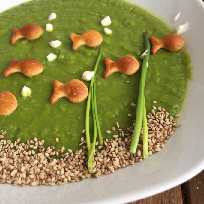 Erbsensuppe vegetarisch mit Joghurt (4)