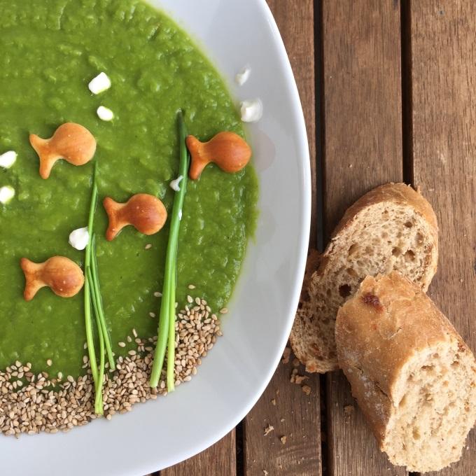 Erbsensuppe vegetarisch mit Joghurt (5)