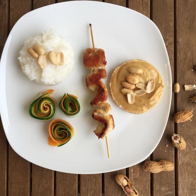 Erdnuss Erdnusssoße Hähnchen Gemüse (2)