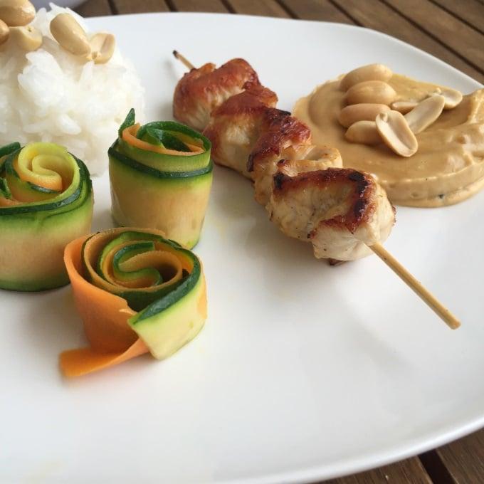 Erdnuss Erdnusssoße Hähnchen Gemüse (3)