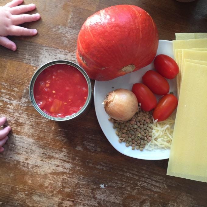 Lasagne Linsen Kürbis (1)