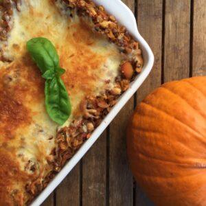 Kürbis-Linsen-Lasagne