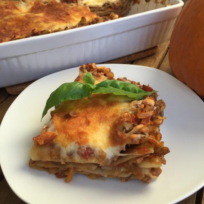 Lasagne Linsen Kürbis (5)