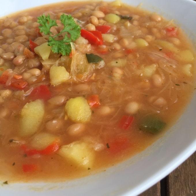 Sauerkraut Suppe Bohnen (3)