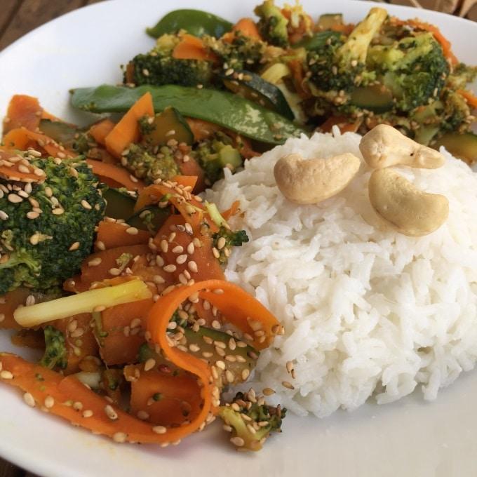 Sesam Gemüse Kokosreis Wok (2)