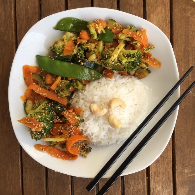 Sesam Gemüse Kokosreis Wok (3)