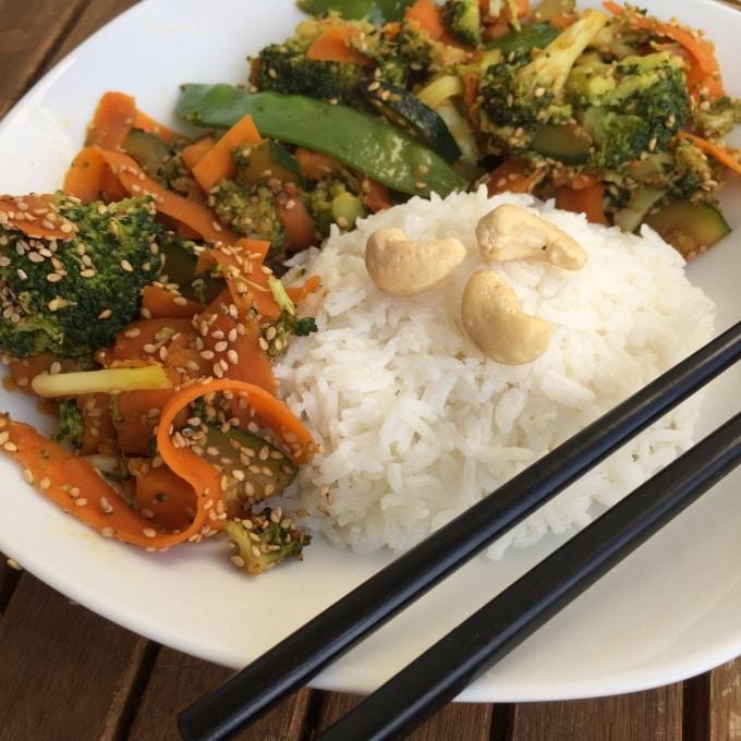 Sesam Gemüse Kokosreis Wok (4)