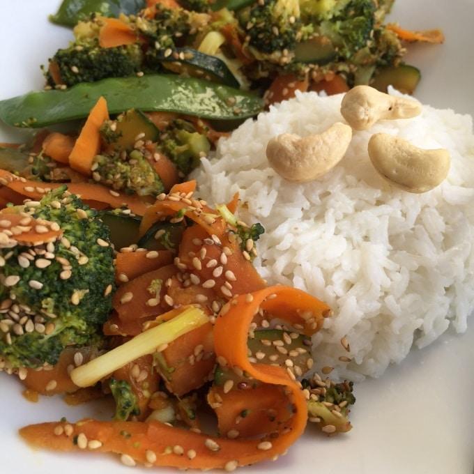 Sesam Gemüse Kokosreis Wok (5)