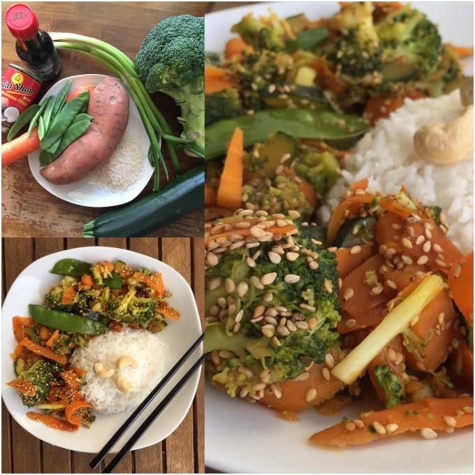 Sesam Gemüse Kokosreis Wok (7)