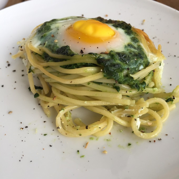 Spaghettinester Spinat Ei (7)