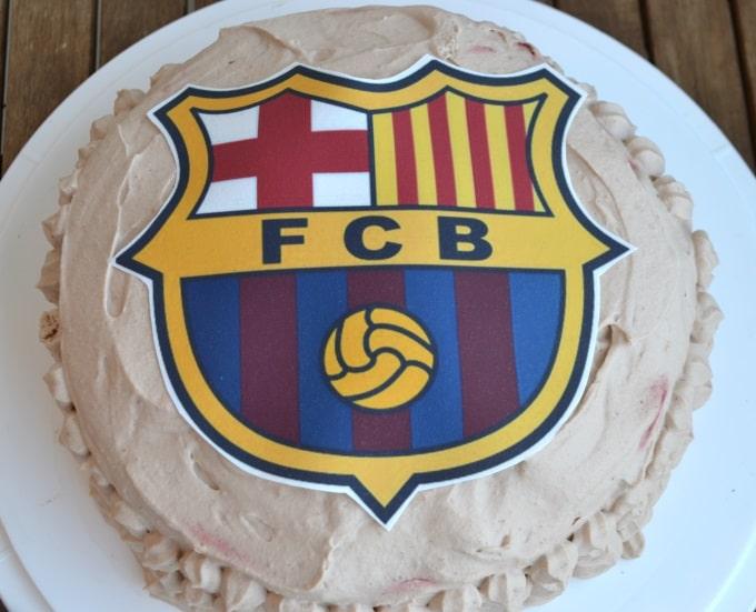 Schokosahnetorte Barcelona Fussball (2)
