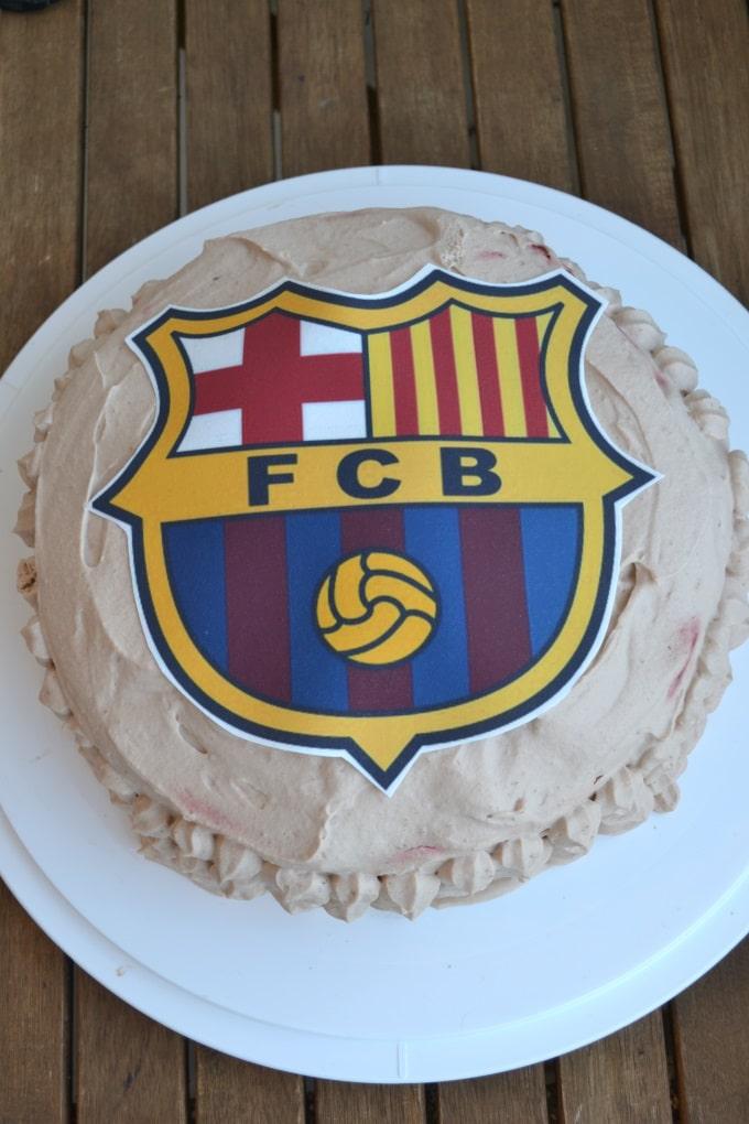 Schokosahnetorte Barcelona Fussball (4)
