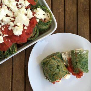 Überbackene Spinat-Pfannkuchen
