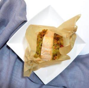 Couscous-Päckchen mit Lachs (Gastbeitrag von Beauty-Mami)
