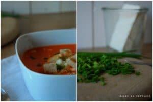 Paprika-Tomatensuppe mit Feta und Croutons (Gastbeitrag von Essen is fertich)