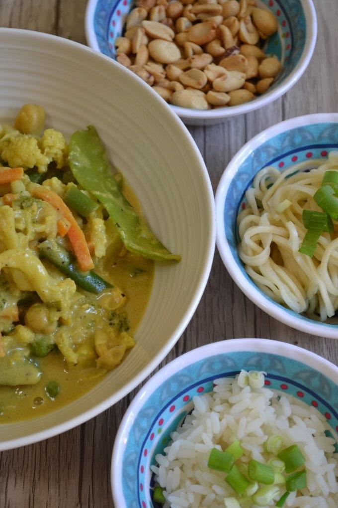 Gemüse Hähnchen Curry Erdnussbutter (2)