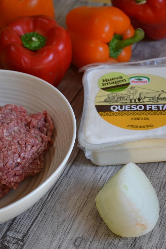 Paprika gefüllt Hackfleisch Feta (1)