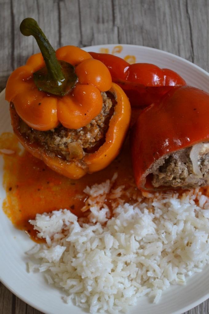 Paprika gefüllt Hackfleisch Feta (4)