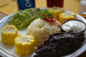 Das Essen in Mittelamerika